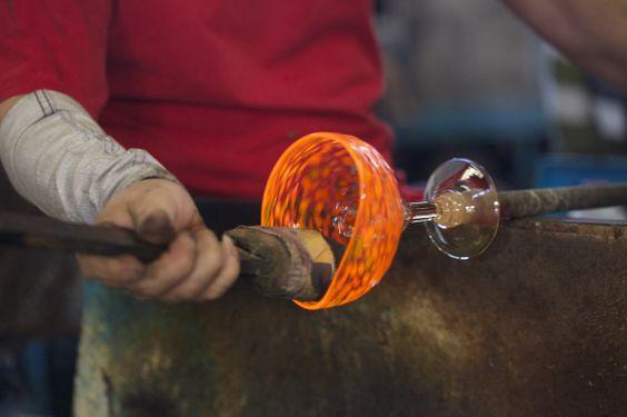 Raise a recycled glass!  #recycledglass, #artisan, #handblown