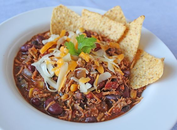 Slow cooker chicken chilli, tis the season