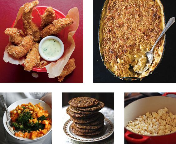 Chicken fingers, cookies, popcorn - and broccoli with cheetos! The perfect menu roadmap for a Family Movie Night.