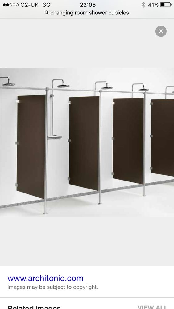 Shower dividers for men