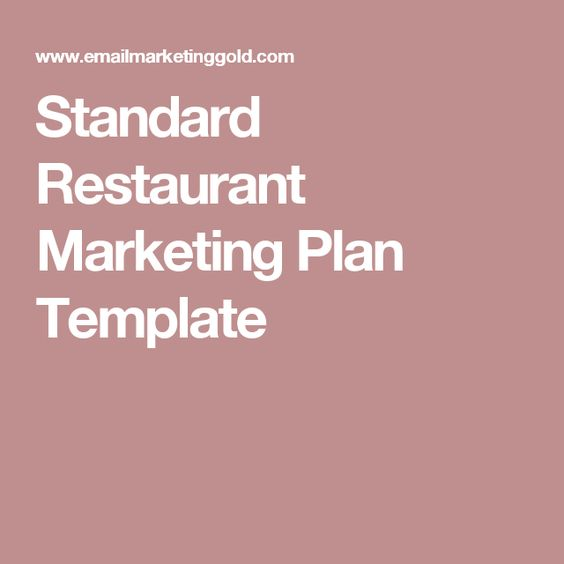 Best  Restaurant Marketing Plan Ideas On   Restaurant