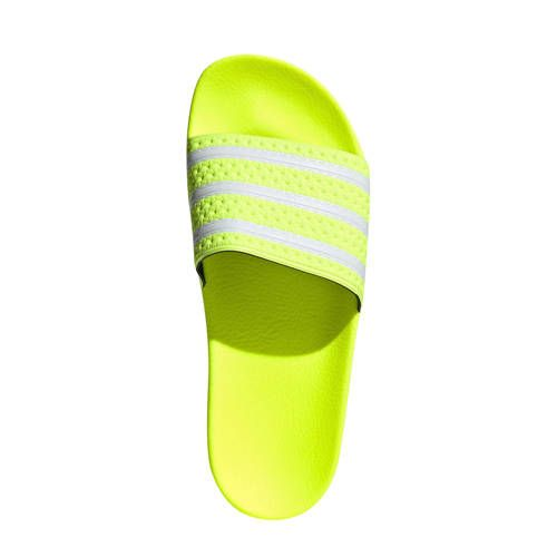 Adilette badslippers limegroen (met afbeeldingen) | Adidas ...