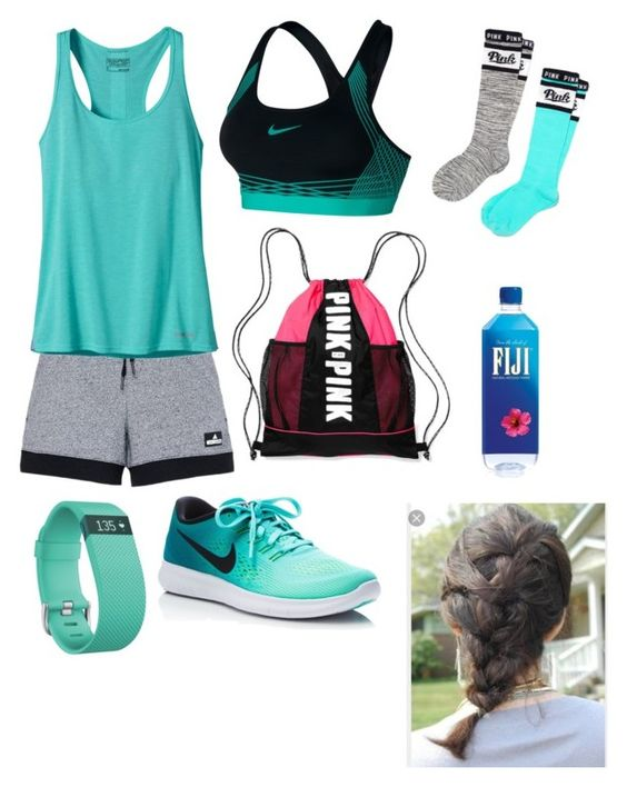 """Untitled #391"" by rikey-byrnes on Polyvore featuring adidas, Patagonia, NIKE, Fitbit, Victoria's Secret and Victoria's Secret PINK"
