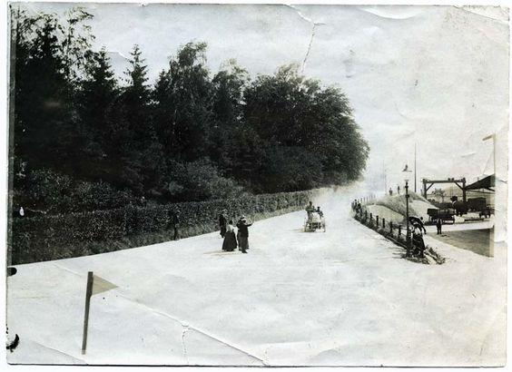 Anfänge des Automobils in Winterthur: Autorennen auf der unteren Vogelsangstrasse um 1900