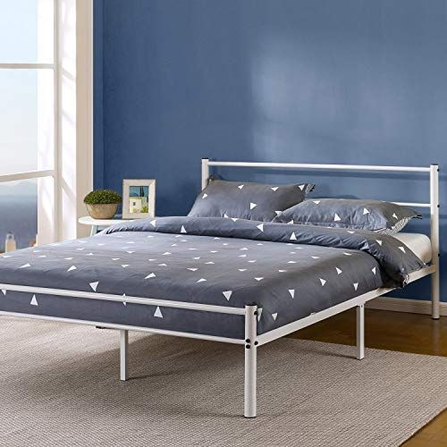 New Zinus Geraldine 12 Inch White Metal Platform Bed Frame Headboard Footboard Premium Steel Slat Support Mattress Foundation Full Online Shopping In 2020 Metal Platform Bed Bed Frame Headboard Headboard Footboard