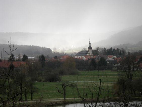 Fränkische Schweiz Winter 2007/2008 - Unwetter über Pretzfeld