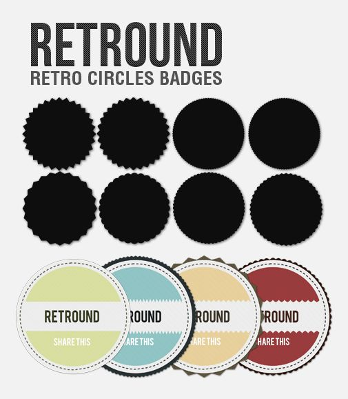 Retround – Retro Circles Badges (Free PSD)