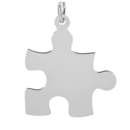 Puzzle Piece Charm $22 https://www.charmnjewelry.com/sterling-silver-charms.htm #SilverCharm
