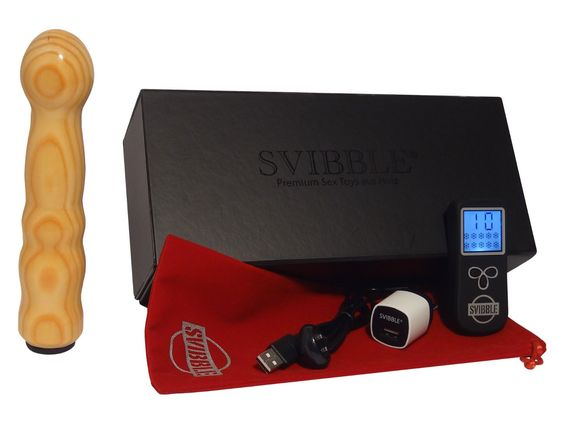 SVIBBLE® LENGO Wiederaufladbarer Holzvibrator G-Punkt Stimulator in Lärche Funkferngesteuert 10 Vibrationsprogramme USB-Ladekabel mit Magnetic Connector Starke Vibration