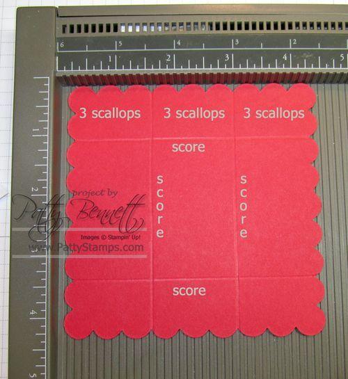Stampin' Up!  Scallop square box instructions   Patty Bennett