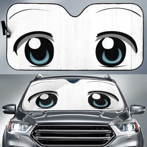 Anime Funny Eyes Car Sun Shades Car Car Sun Shade Car Sun Shades
