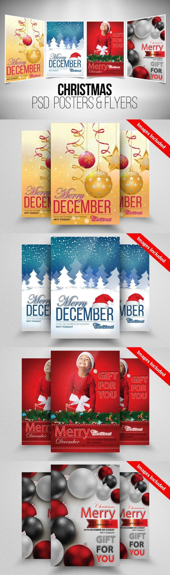christmas flyer template bundle flyers flyer template and poster 4 christmas flyer template bundle poster templates 12 00