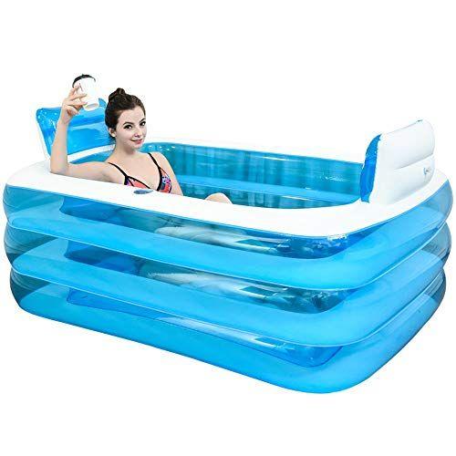 Xl Blue Color Inflatable Bathtub Plastic Portable Foldabl Https Www Amazon Com Dp B07gljy16p R Portable Bathtub Inflatable Bathtub Best Inflatable Hot Tub