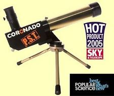Coronado Personal Solar Telescope  PST  FREE Meade Super Plossl Eyepiece Upgrade