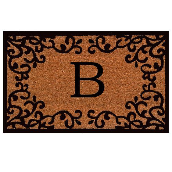 Home & More Monogram Doormat & Reviews | Wayfair