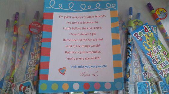 Student Teacher Goodbye Poem