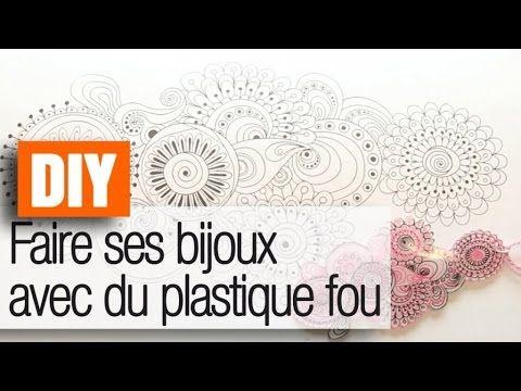 Faire ses bijoux en plastique fou - Tuto déco /DIY
