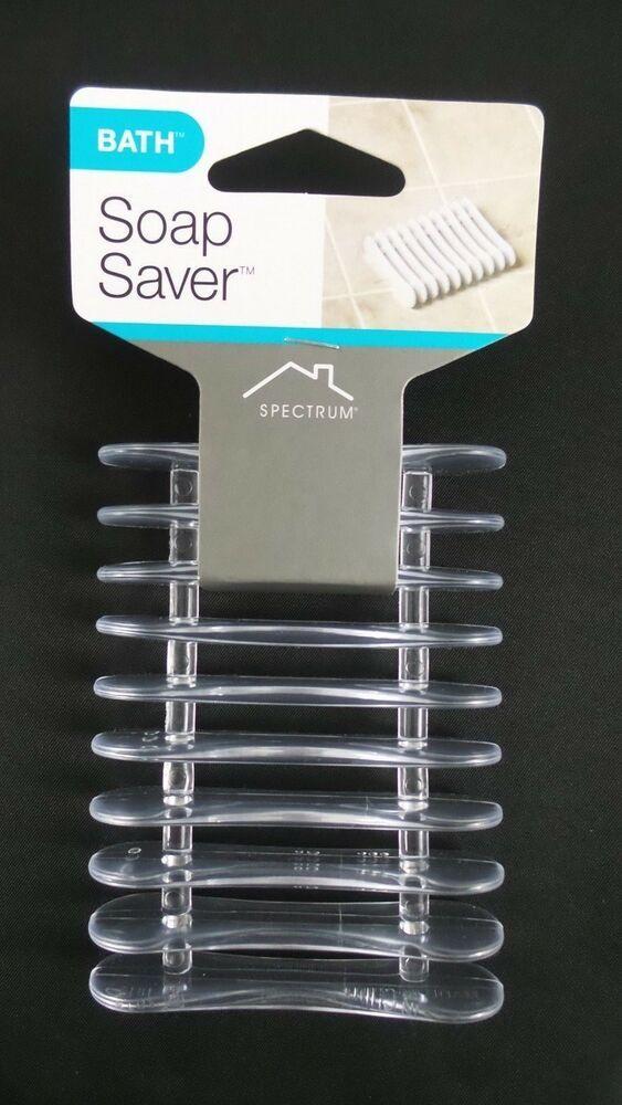 Spectrum Rectangle Vinyl Soap Flexible Razors Sponges Holder Saver