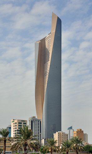 Al Hamra Tower in Kuwait City, 412.6 m (2011).