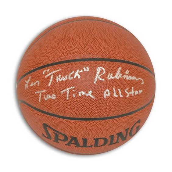 "Leonard """"Truck"""" Robinson Autographed Indoor/Outdoor Basketball Inscribed """"Truck"""" & """"Two Time All Star"""""