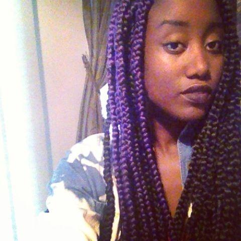 Purple Box Braids Hairgetskinky Com Pinterest Purple