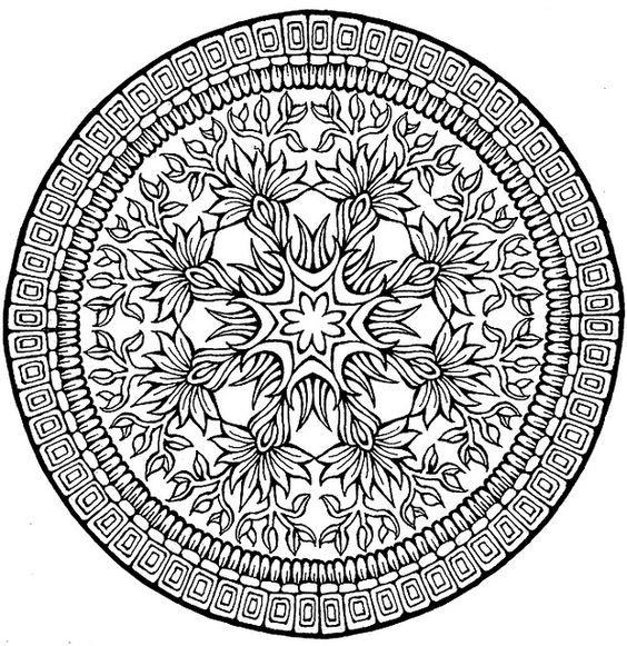complex mandala coloring pages printable - photo#17