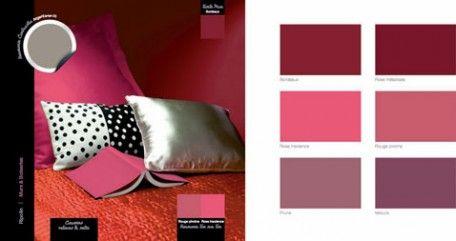 9 ambiances couleurs pour savoir utiliser un nuancier peinture bordeaux roses et d coration. Black Bedroom Furniture Sets. Home Design Ideas