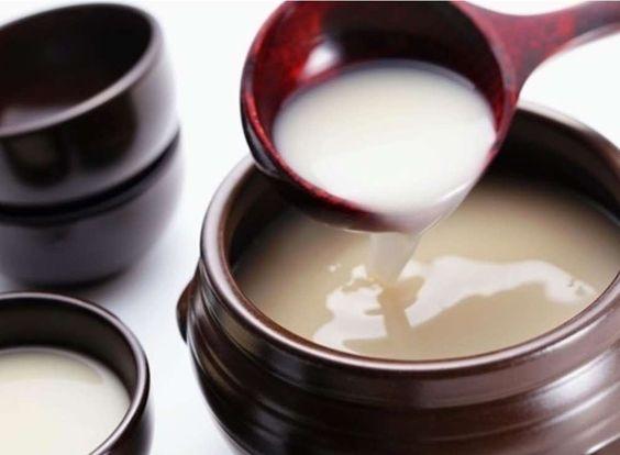 Trị nám trong rượu gạo Hàn Quốc