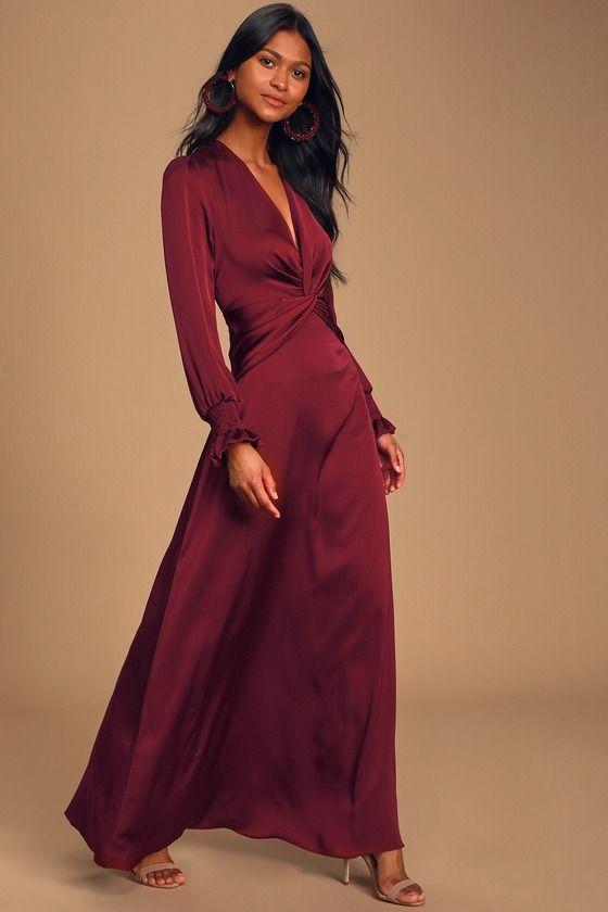 39+ Long burgundy dress info