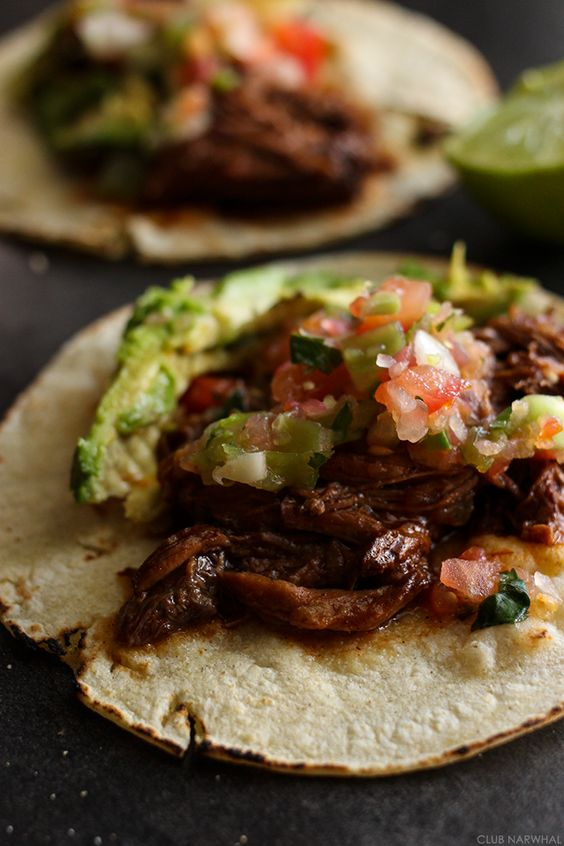 Shredded beef tacos, Shredded beef and Tacos on Pinterest