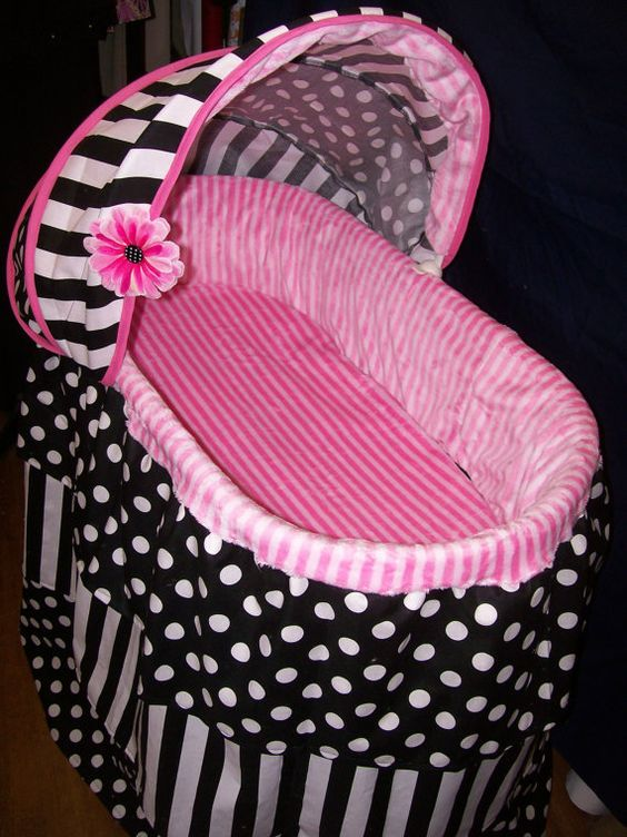 Hey, I found this really awesome Etsy listing at https://www.etsy.com/listing/173694989/three-tiered-bassinet-cover-black-and