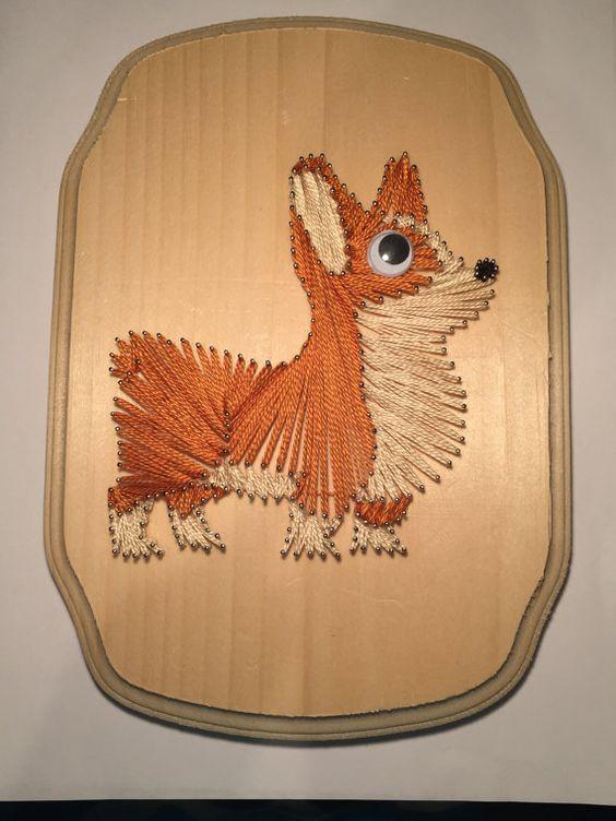 Corgi String Art / Dog / Welsh / Pembroke / by AwesomelyWalrus