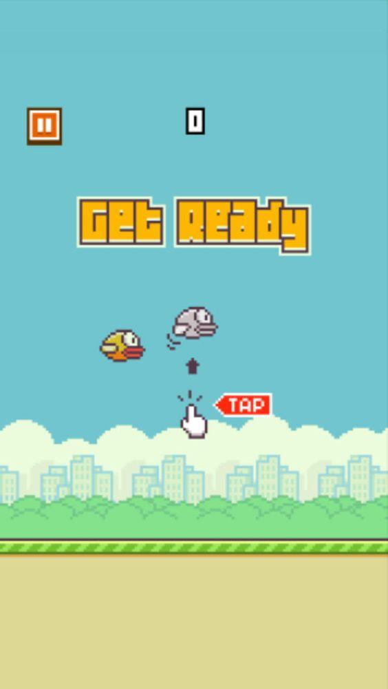Flappy Bird es uno de los juegos móviles más populares del momento, adictivo e irritante por su dificultad. Debemos conducir a un pájaro entre tuberías.