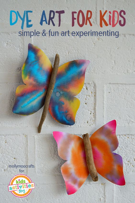 Dye art projects for kids without the mess for kids for Cool fun projects