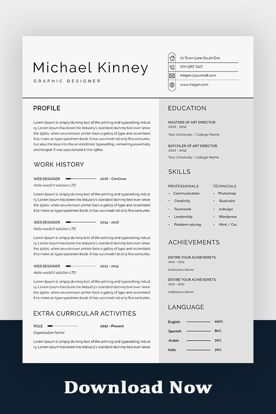 Professional Resume Template Modern Resume Template Creative Resume Template Cv Template Word Resume Template Resume Free Download In 2021 Resume Template Professional Modern Resume Template Resume Template Word