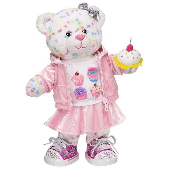 I Heart Cupcakes Confetti Cupcake Bear - Build-A-Bear Workshop US
