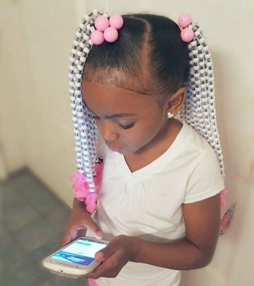 Braids With Beads Hairstyles For Black Kids 2019 Kids Braided Hairstyles Black Kids Hairstyles Kids Hairstyles