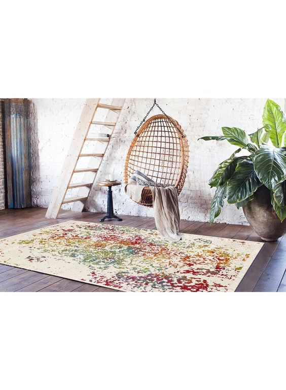 Tapis salon ORIENTAL DESTRUCTURE 2 multicouleur