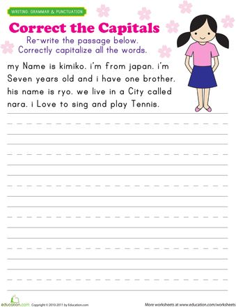Worksheet Capitalization Worksheets 2nd Grade to be student and the ojays on pinterest worksheets capitalization practice kimiko
