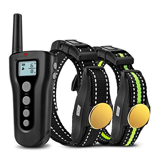 Bousnic Dog Training Collar 2 Dogs 2018 Upgraded 1000ft Remote