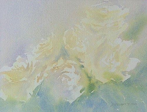 Aquarelles Anne Peyrat Roses Jaunes Tarbes Place Du Foirail