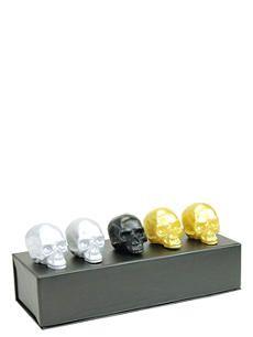D.L. & CO Memento Mori set of five mini skull candles