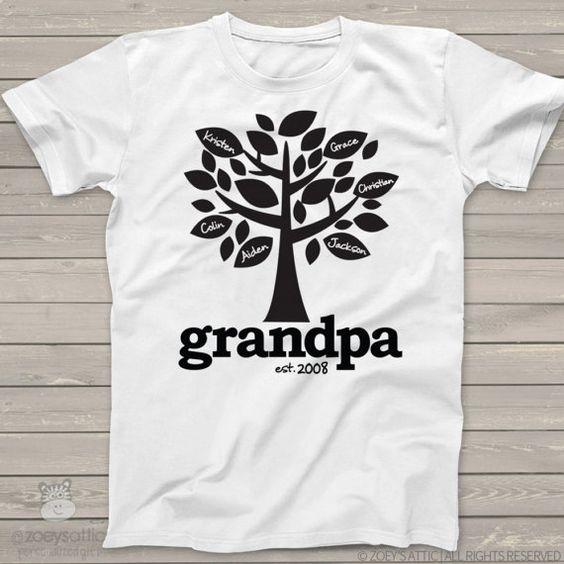 Grandpa Shirt Family Tree Grandpa Established T Shirt Etsy In 2021 Grandpa Shirt Family Shirts Grandpa Established