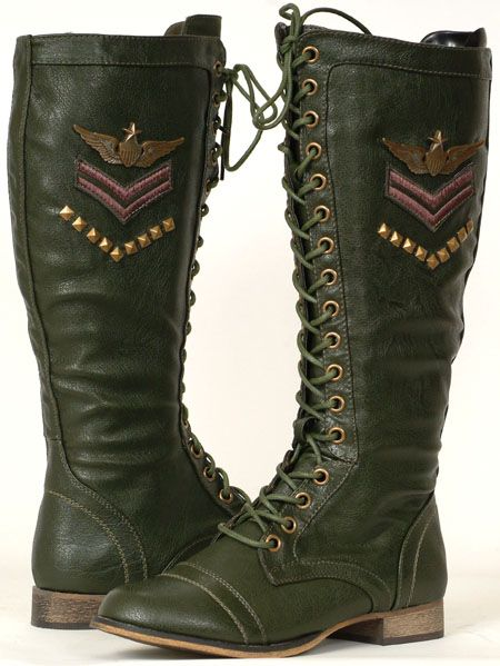 green womens couture shoes | New Military Fashion Women's Green ...