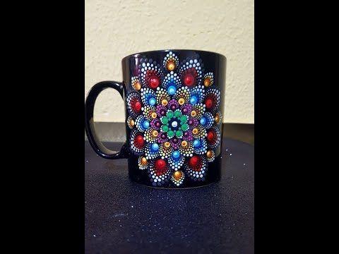21 How To Paint Mandalas For Beginners 11 Mandala Coffee Mug Tutorial Medium Youtube Mugs Painted Mugs Mug Designs