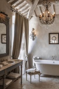 Divine Renovations Style Inspiration Elegant and Timeless #Sophisticated #Silvers #Ornate #Bathroom #Design