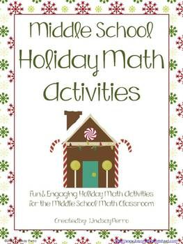 christmas math activities for middle school to be seasons and activities. Black Bedroom Furniture Sets. Home Design Ideas