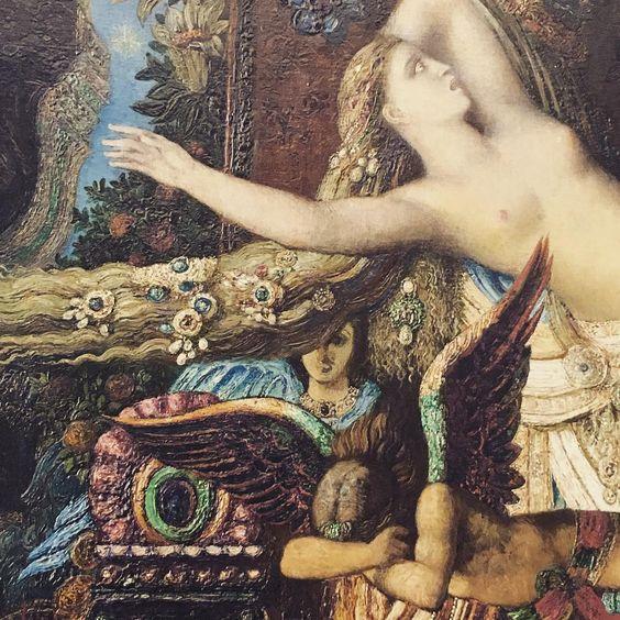 """Detail of """"Jupiter and Semele"""" by Gustave Moreau, 1895 #arthistory #art #artdetail #mythology #moreau #museegustavemoreau:"""