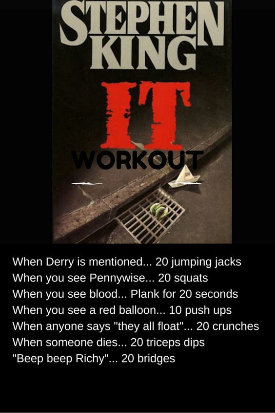 Stephen King IT Workout! Finally a workout for the horror movie addict...