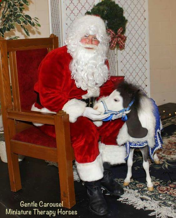Scout is checking to see if he is on the naughty list.